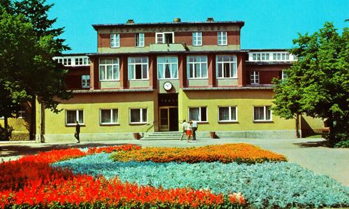 Postkarte 1985 2 Seit 100 Jahren wird in Bad Düben gekurt   Neue Ausstellung in Bad Düben
