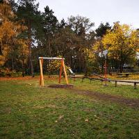 """Die neue Seilbahn auf dem Spielplatz """"Hammermühle"""" in Bad Düben (C) Regionalmanagement Dübener Heide"""