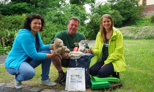 Wildkatzenrucksack Foto VDH 500 Die Katze im Sack: NaturparkHaus in Bad Düben ist Ausleihstelle für Wildkatzenrucksack
