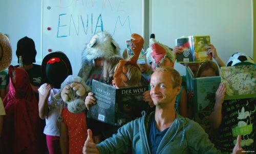 Wolfstheater Sechert big Projekttage über den Wolf in der Dübener Heide