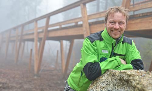 Gebietsbetreuer Ronald Ledermüller Neuer Wildpark am Waldhaus Mehlmeisel öffnet seine Pforten