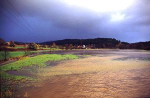 Röslautal Hochwasser Wiesenmühle 11-1998