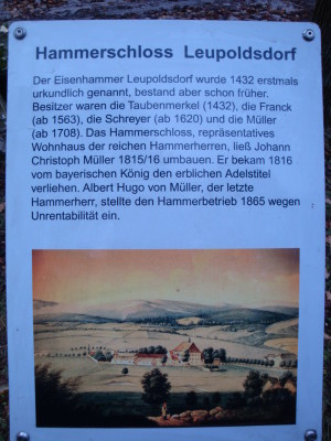 Tafel Hammerschloss Leupoldsdorf 2 Go
