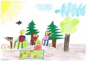 Zeichnung B.Nitze Naturpark GS Nudersdorf