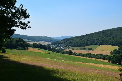 Blick nach Eiterhagen c Geo Naturpark Frau Holle Land Einweihung Premiumwanderweg P24 Söhrewald