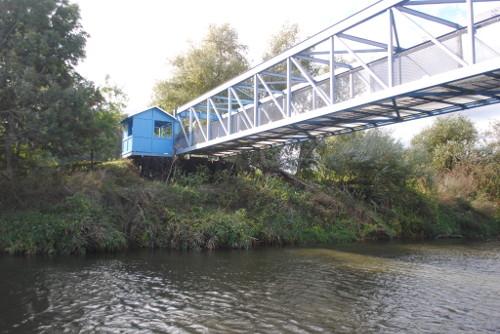 Brücke am ehem. Sperrwerk GöringencOliver Brunkow Radwanderung Deutsche Einheit