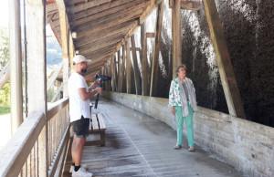 Filmaufnahmen zum Abstand-Trailer am Gradierwerk (c) Claudia Krabbes