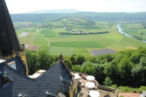 Terrasse2cSchloss RothesteinPelikan 620x412 Herbst Wandertage auf dem Werra Burgen Steig Hessen