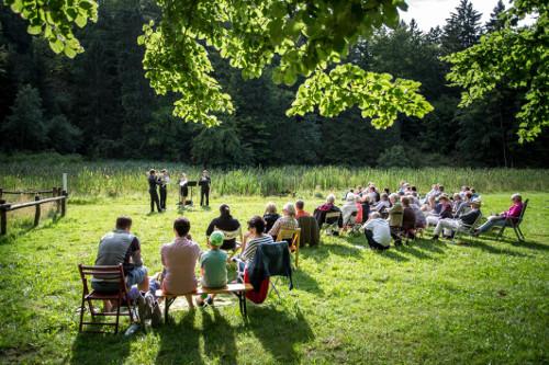 Waldkonzert c Kultursommer Nordhessen Heiko Meyer Waldkonzert am Frau Holle Teich