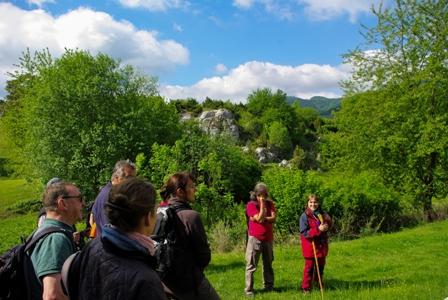 Wandergruppe in den Hielöchern c Hanna Wallbraun Naturparkführungen