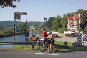 Radfahrer in Wanfried (c) schellenberger