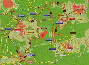 Ausschnitt Wanderkarte Söhre(c) Geo-Naturpark Frau-Holle-Land