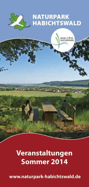 2014 Titel Sommerprogramm Der Sommer wird ereignisreich – neues Veranstaltungsprogramm für den Naturpark Habichtswald