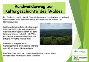 Rundwanderweg Kulturgeschichte des Waldes