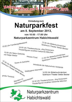 Einladung Naturparkfest web 300x424 Naturparkfest auf dem Dörnberg