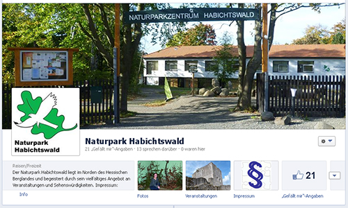 Facebook1 Naturpark Habichtswald jetzt neu bei Facebook