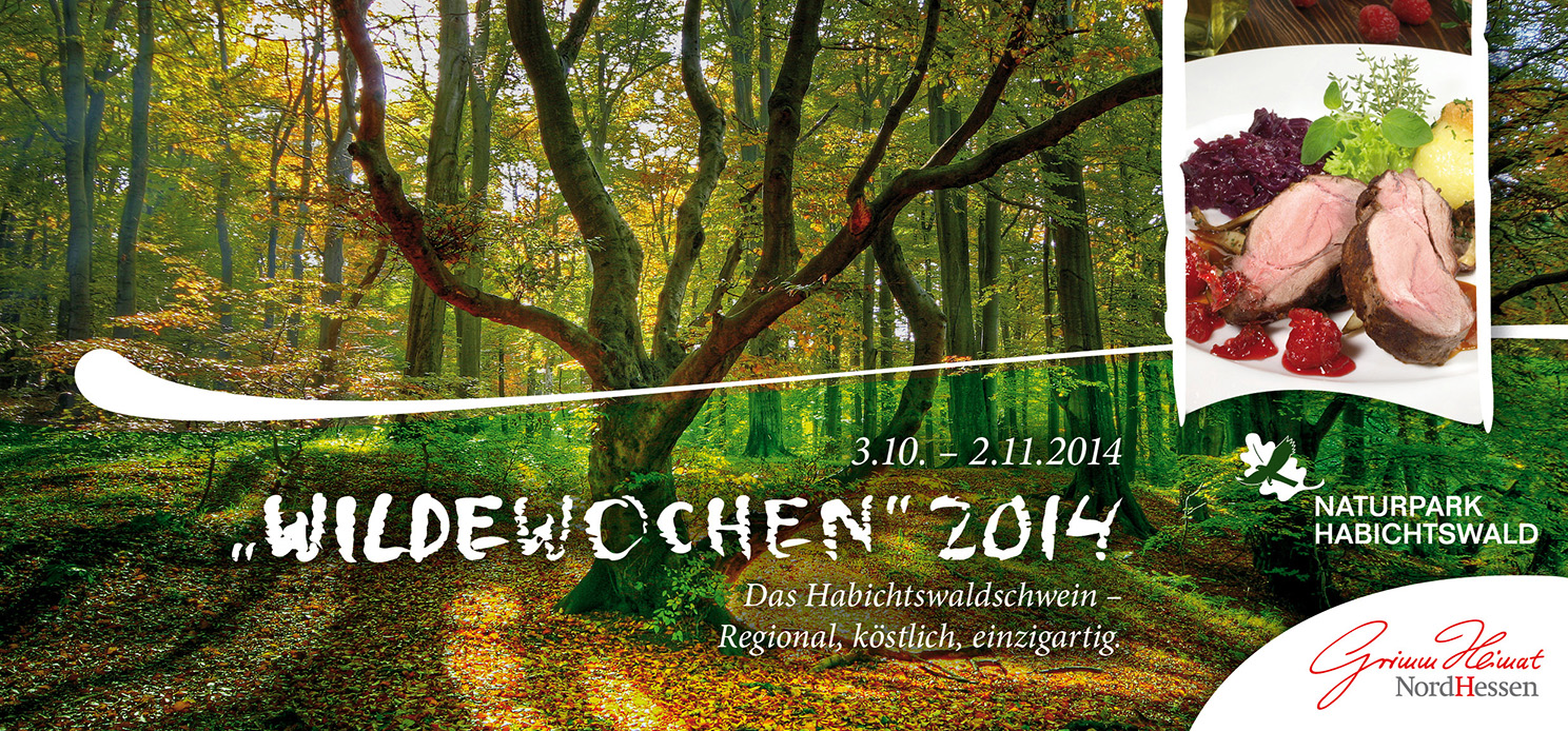 LV1 Naturpark Habichtswald Wilde Wochen 2014 Titel Wilde Wochen im Naturpark Habichtswald