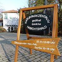 Naturpark Habichtswald 2013 AHartmann Aufsteller Winteröffnungszeiten Winteröffnungszeiten im Naturparkzentrum Habichtswald