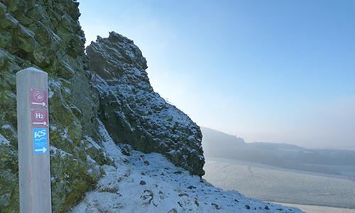 Naturpark Habichtswald AHartmann 2013 Winter H2 Neujahrswanderung auf dem H2 auf den Hohen Dörnberg