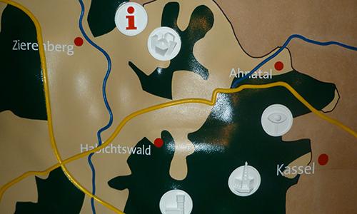 Naturpark Habichtswald AHartmann 2014 Naturparkkarte Dreidimensionale Karte zeigt Naturpark