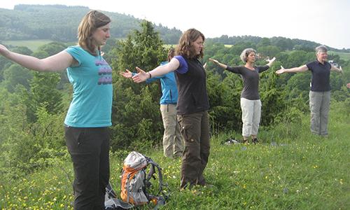 Naturpark Habichtswald CMerkel Gesundheitswandern Gesundheitswandern auf dem Dörnberg