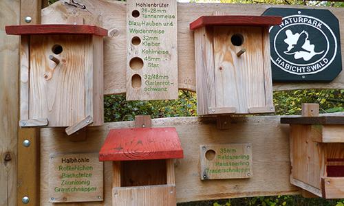 Naturpark Habichtswald Hartmann 2013 Nistkästen Nistkästen bauen – Bastelnachmittag für Kinder