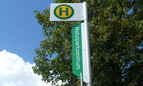 Naturpark Habichtswald JDepenbrock Haltestelle NPZ Mehr Dörnberg mit der Linie 117