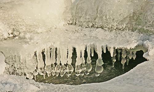 Naturpark Habichtswald Karner Eis Das Element Wasser im Winter