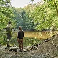 Naturpark Habichtswald KasselMarketing Blauer See Waldbaden mit Kneipp Wassertreten