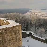 Naturpark Habichtswald Krackrügge Weidelsberg Schnee Panorama1 Fototour rund um die Weidelsburg