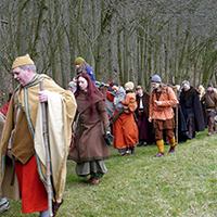 Naturpark Habichtswald Scotelingo Spendenwanderung Spendenwanderung in historischer Gewandung