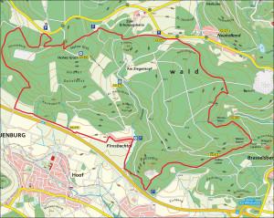 Strecke 300x239 Mountainbiken im Naturpark Habichtswald