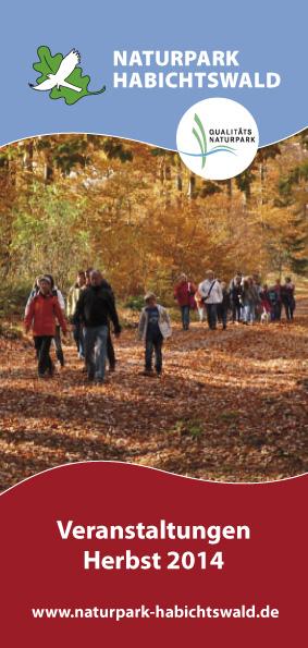 Titel Programm Herbst 2014 Naturerlebnisse im Herbst – Den Habichtswald entdecken