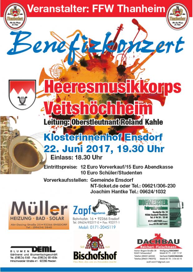 20170622 benefizkonzert 620x874 Benefizkonzert des Heeresmusikkorps Veitshöchheim zugunsten Pfarrkirche Ensdorf