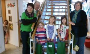 Drei kleine Glücksfeen aus dem Kindergarten in Ensdorf