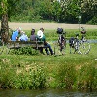 Fahrradfahrer -1 Foto B-Krass