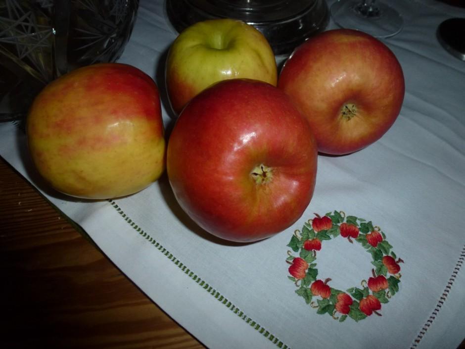 P1000850 1 940x705 Bratapfel mit Kastanienfüllung auf Preiselbeerspiegel