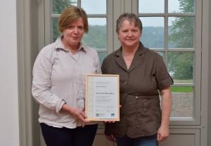 Marlies Fritzen und Thea Daubitz1 300x208 Erfolgreiche Veranstaltungsreihe mit Naturpark Botschaftern