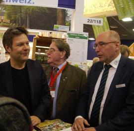 Minister Robert Habeck a Holsteinische Schweiz wieder groß in Berlin auf der IGW 2018