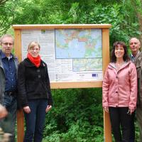 J. Blucha, S. Beck, Landrätin S. Ladwig, H. Wege, BGM J. Schmidt,