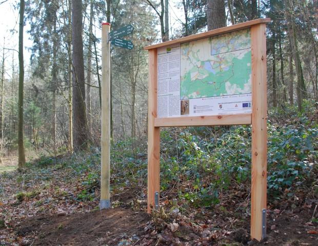 Wanderwegebeschilderung 620x480 Wandern im Naturpark Holsteinische Schweiz