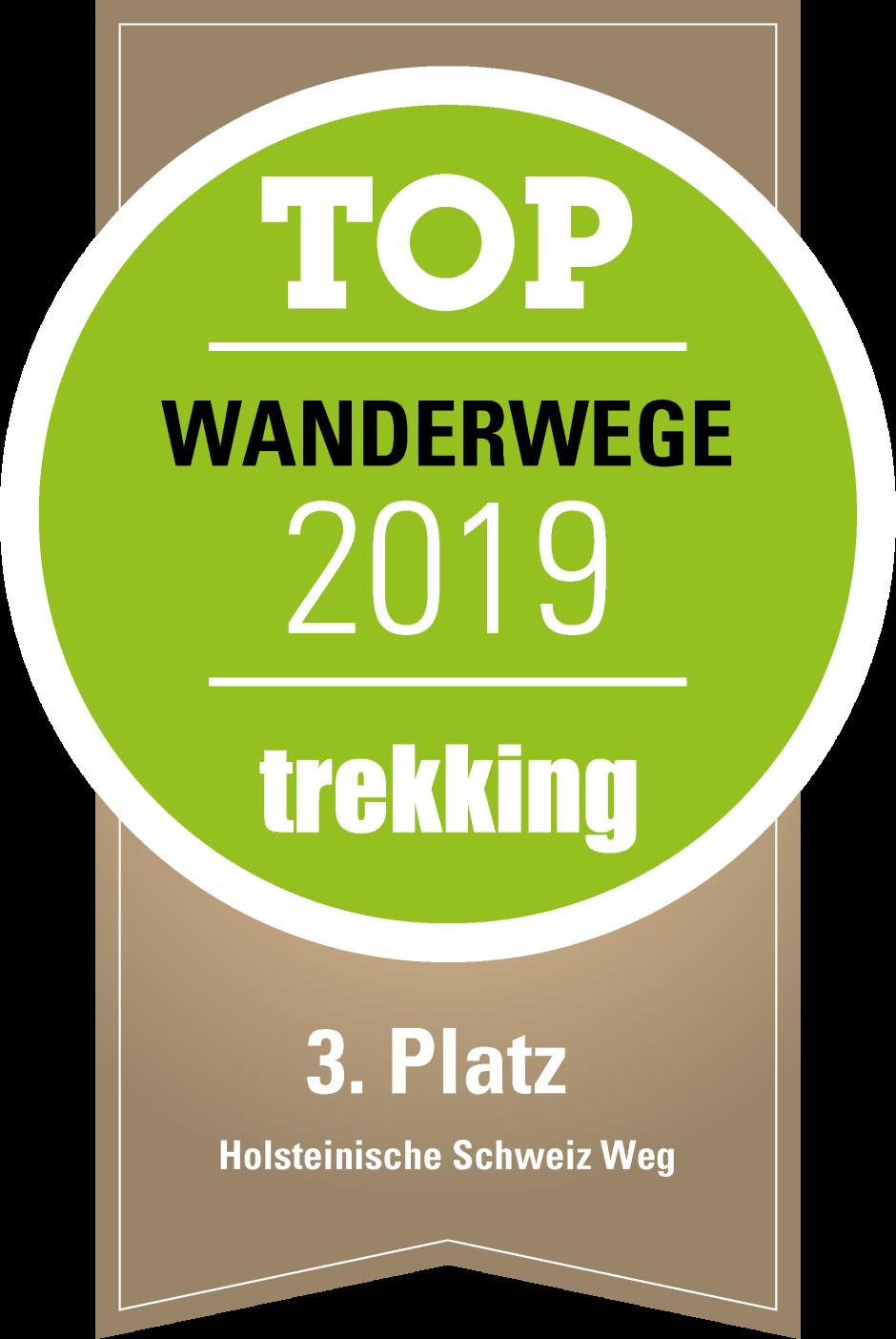logo siegel trekking 3 Platz Wanderwege Holsteinische Schweiz Weg 940x1404 Holsteinische Schweiz Weg erhält Trekking Award