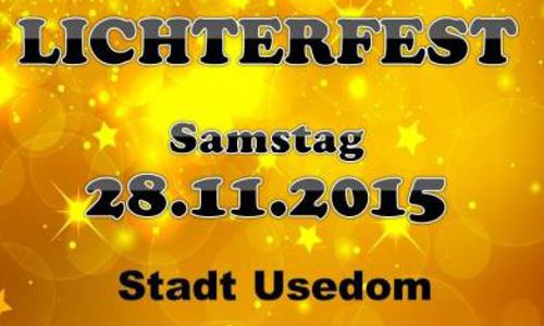 Lichterfest Usedom500x300 Lichterfest am 28.11.2015