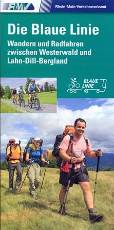 """Blaue Linie Neuerscheinung   Karte zum Rad  und Wanderbus """"Blaue Linie"""""""