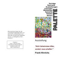 C Palette Einladungskarte Ausstellungseröffnung in der Alten Schule in Bad Endbach