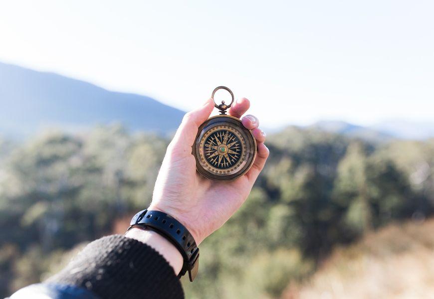 Kompass Orientierung mit Karte und Kompass: für Einsteiger
