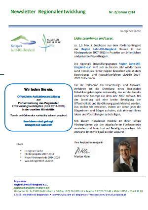 RM Newsletter 2 Newsletter Regionalentwicklung   Nr. 2