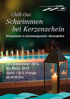c Bad Endbach Plakat Schwimmen bei Kerzenschein 2014 2015 Chill Out   Schwimmen bei Kerzenschein