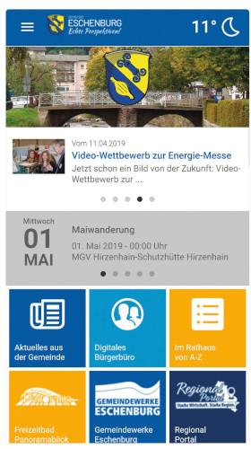 c Eschenburg Eschenburg App Jetzt geht's App: Eschenburg handlich auf dem Schirm