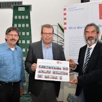 Kostenlose Sprechstunde im Rathaus (von links): Gebäude-Energieberater Jürgen Kotz, Eschenburgs Bürgermeister Götz Konrad und Klaus Fey von der Hessischen Energiesparaktion.